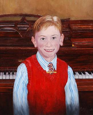 Young Piano Student Art Print by Phyllis Barrett