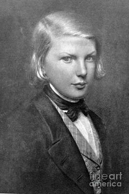 Hunchback Of Notre Dame Photograph - Young Victor Hugo, French Author by Photo Researchers