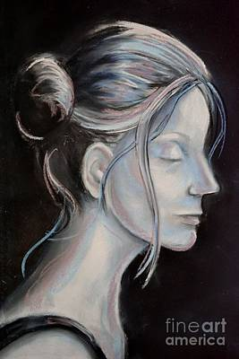 Young Woman In Profile-quick Self Study Art Print