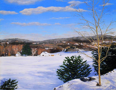 Painting - Youngs Road Brooklyn Ct by William Frew