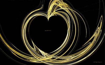Your Golden Heart Art Print by Wayne Bonney