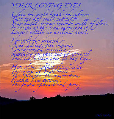 All Occasion Card Mixed Media - Your Loving Eyes 2 by Debra     Vatalaro