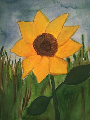 Your Sunflower Art Print by Cara Surdi