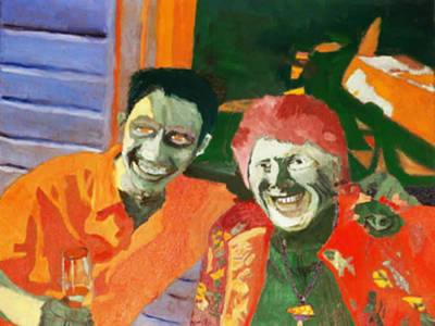 Painting - Youth And Beauty Share A Laugh by Brent  Harris
