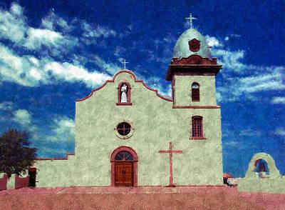 Ysleta Mission Texas Art Print by Kurt Van Wagner