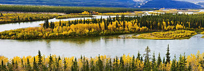 Yukon River Photograph - Yukon River And Fall Colours by Yves Marcoux