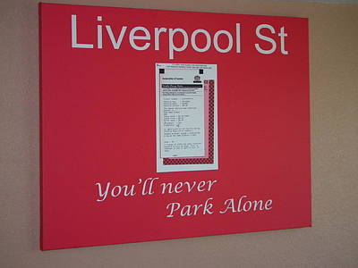 Yull Never Park Alone Original by Robert Gould