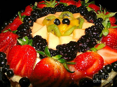 Photograph - Yummy Fruit Dessert by Sue Melvin