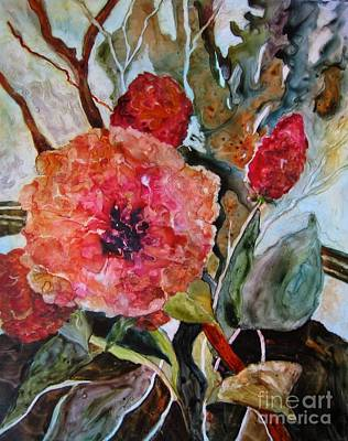 Painting - Yupo Floral by Vicki Brevell
