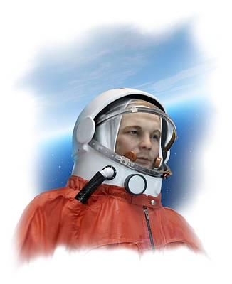 Yuri Gagarin Photograph - Yuri Gagarin, Soviet Cosmonaut by Detlev Van Ravenswaay