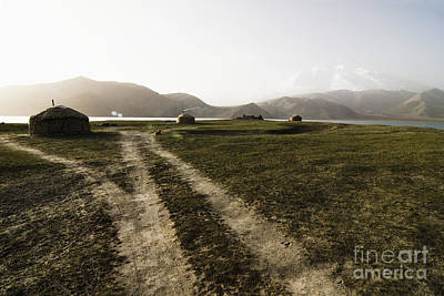 Yurts Photograph - Yurts And A Dirt Road by Sam Bloomberg-rissman