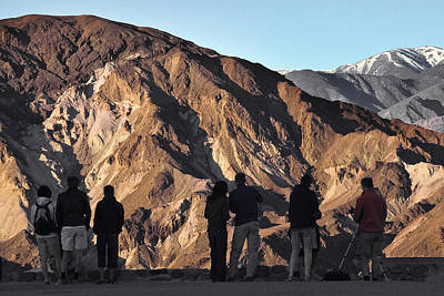Photograph - Zabriske Sunrise Watchers by Wes and Dotty Weber