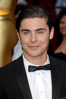 81st Annual Academy Awards - Arrivals Photograph - Zac Efron At Arrivals For 81st Annual by Everett