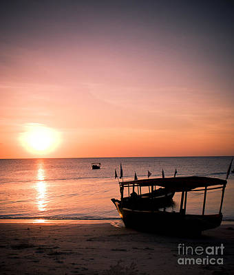 Zanzibar Beach Sunset Art Print