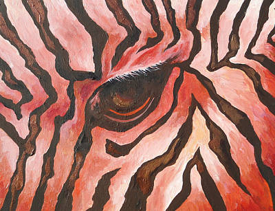 Zebra Painting - Zebra 2 by Sandy Tracey