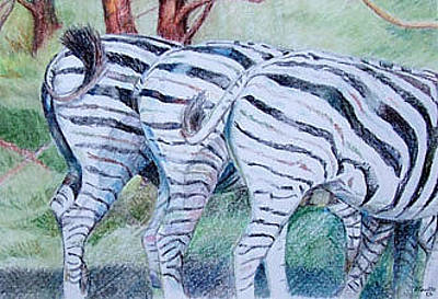 Painting - Zebra Bums by Teresa Smith