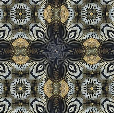 Digital Art - Zebra Cross II by Maria Watt