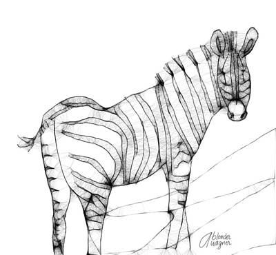 Zebra Doodle Print by Arline Wagner