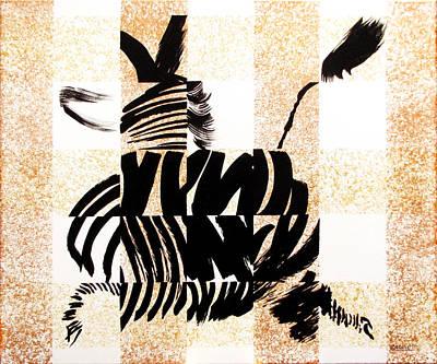 Zebra In Flight Original