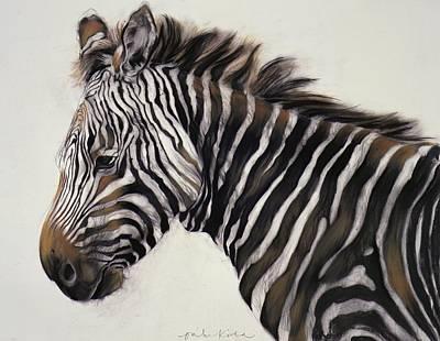 Zebra Painting - Zebra  by Odile Kidd