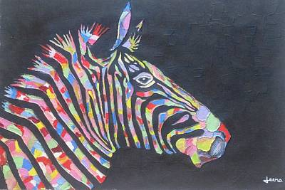Painting - Zebra by Rejeena Niaz