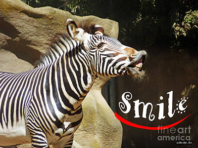 Zebra Smile Art Print by Methune Hively