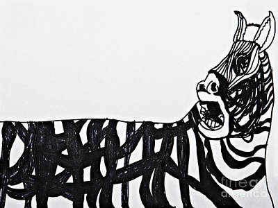 Abstract Design Drawing - Zebra by Stephanie Ward