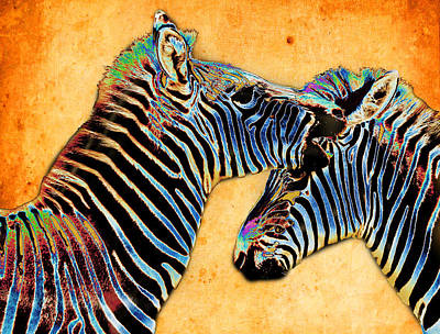Zebra Tales Art Print by Barbara  White