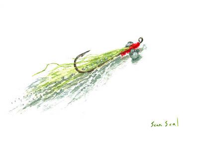 Fishing Painting - Zen Clouser by Sean Seal