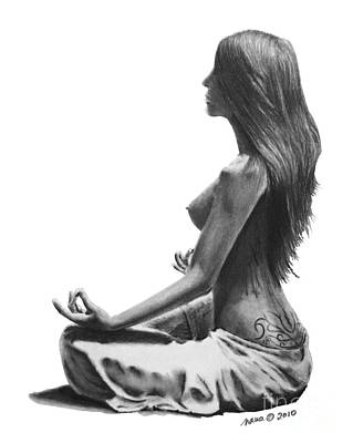 Drawing - Zen by Marianne NANA Betts