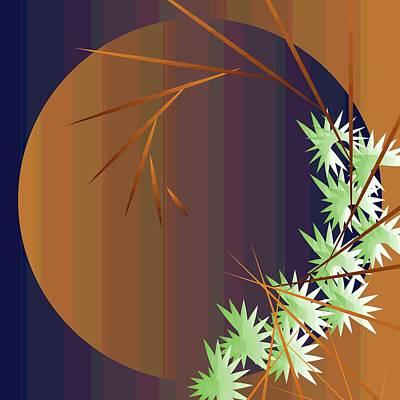 Digital Art - Zen Moon 2011 by Kathryn Strick