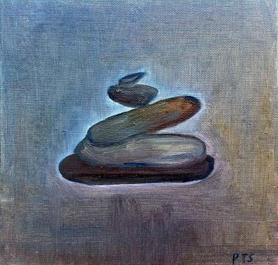 Zen Stones Art Print by Prachi  Shah