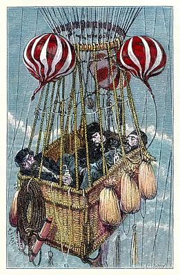 Zenith Balloon Ascent, 1875 Art Print