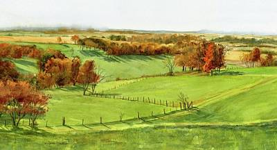 Painting - Zig Zag Fence by Phyllis Martino