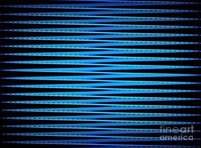 Digital Art - Zigzag In Blue by Yali Shi