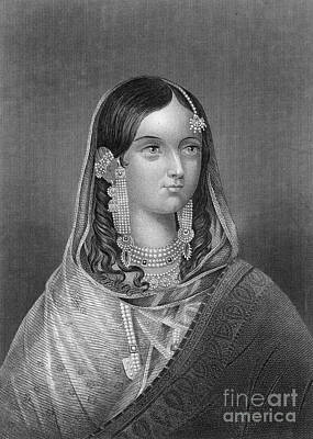 Photograph - Zinat Mahal (d. 1882) by Granger