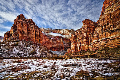Photograph - Zion Canyon In Utah by Christopher Holmes