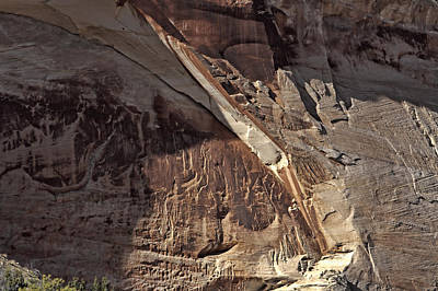 Photograph - Zion Canyon Wall Detail by Gregory Scott