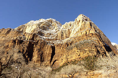 Art Print featuring the photograph Zion Cliffs by Bob and Nancy Kendrick