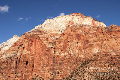 Art Print featuring the photograph Zion Red Rock by Bob and Nancy Kendrick