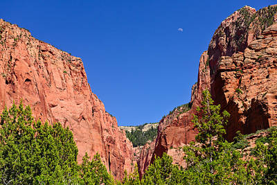 Photograph - Zion Rising Moon by Greg Norrell