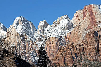 Art Print featuring the photograph Zion Towers by Bob and Nancy Kendrick
