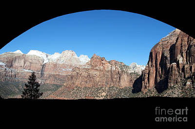 Art Print featuring the photograph Zion Tunnel View by Bob and Nancy Kendrick