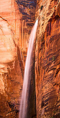 Photograph - Zion Waterfall by Adam Pender
