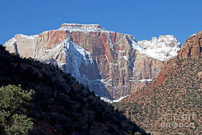 Zion's West Temple Art Print by Bob and Nancy Kendrick