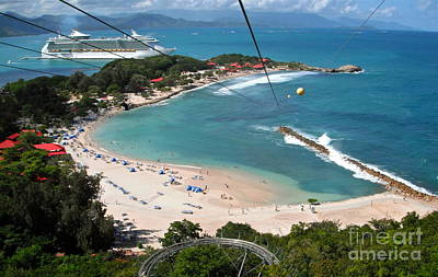 Photograph - Zip Line In Labadee by Carol  Bradley