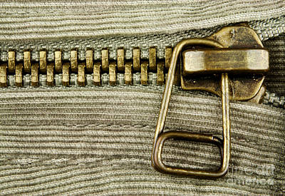 Zipper Photograph - Zipper Detail Close Up by Blink Images