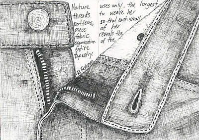 Drawing - Zipper by William Cauthern