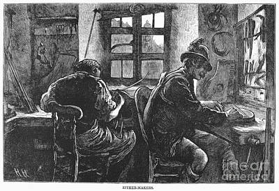 Zither Makers, 1873 Art Print