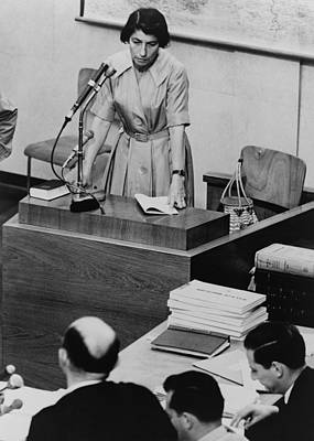 Crime Fighter Photograph - Zivia Lubetkin 1914-1976, Testifying by Everett